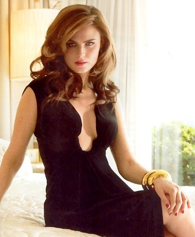 Emily Deschanel wallpaper with a bustier, tights, and a chemise entitled Emily D.