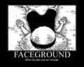 Faceground - monkey-d-luffy fan art