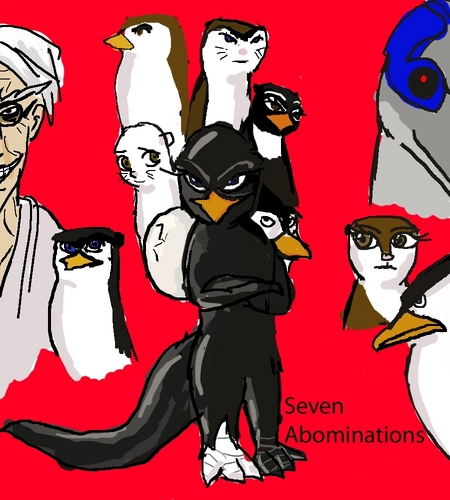 Os Pinguins de Madagascar wallpaper with animê called Fanfiction Thing-Seven Abominations