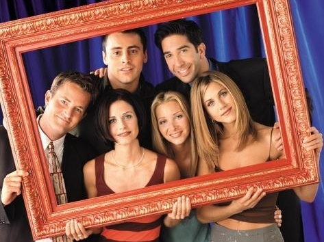 friends - Joey Tribbiani, Ross Geller, Chandler Bing, Monica Geller, Phoebe Buffay, and Rachel Green
