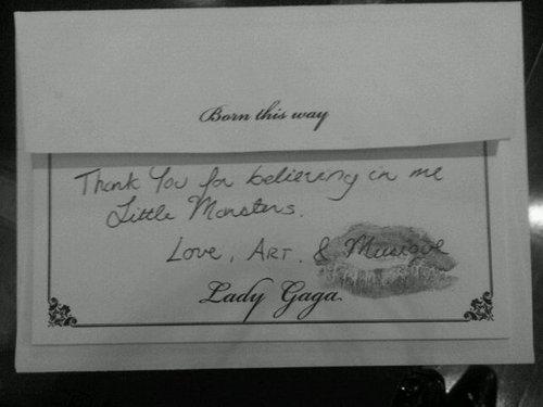 Gaga thanks her Little Monsters!