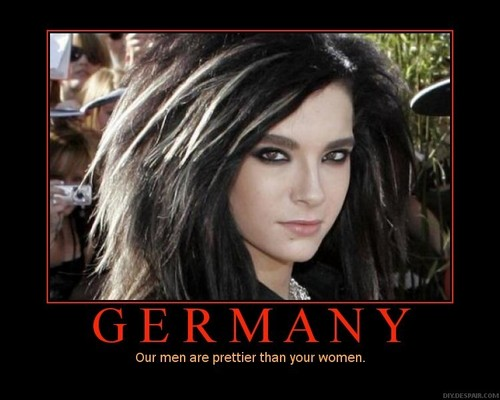 Tokio Hotel 壁紙 containing a portrait titled Germany: Our Men Are Prettier Than Your Women