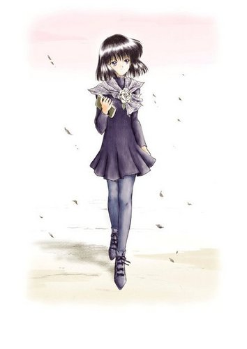 Sailor Saturn wallpaper probably containing an outerwear, a well dressed person, and a box casaco called Hotaru