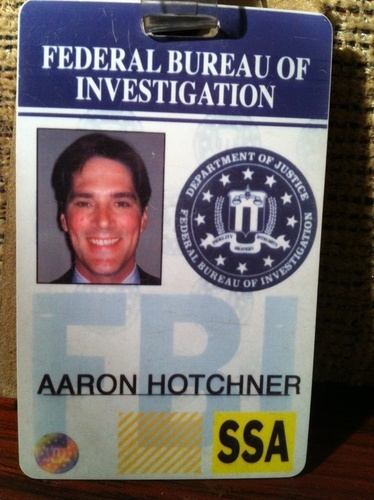 SSA Aaron Hotchner wallpaper titled Hotch's badge!
