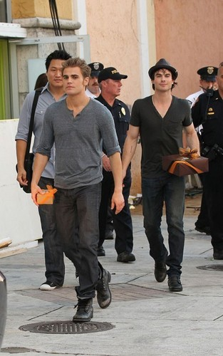Ian & Paul out in Miami