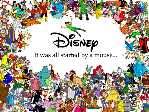 Disney hình nền titled It All Started with a chuột