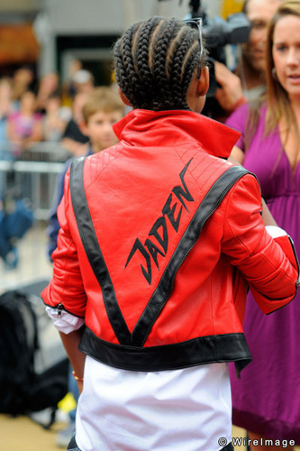 Jaden smith with thriller jaket