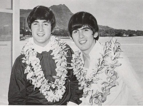 John and George in Hawaii