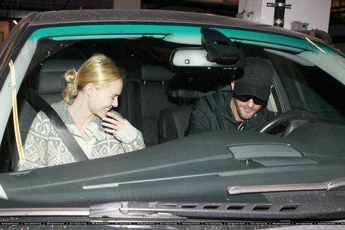 Kate leaving the Arclight cinema with the Skarsgard brothers 10/17/10