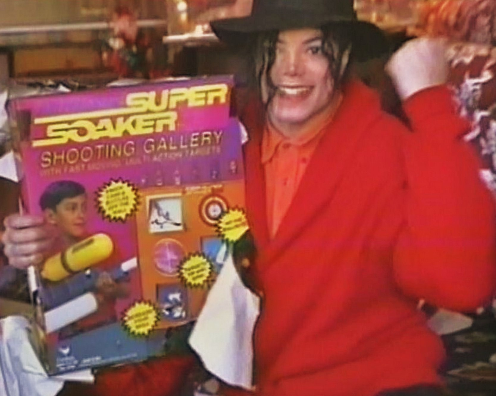 MJ and his super soaker