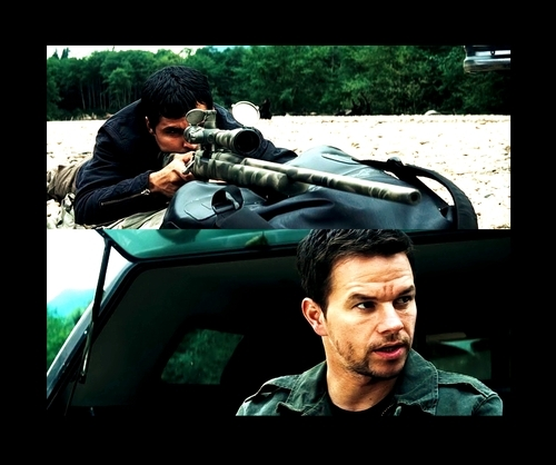 Mark Wahlberg fondo de pantalla with a rifleman, a navy seal, and a green boina titled Mark Wahlberg