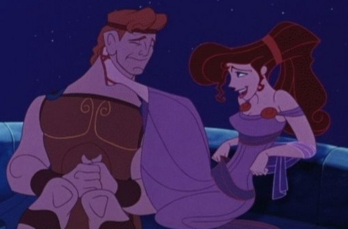 Disney Couples wallpaper with anime titled Megara and Hercules