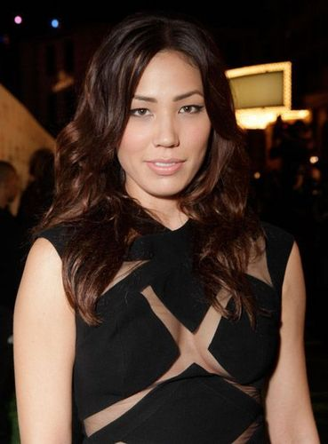 Michaela Conlin wallpaper probably containing a playsuit, a top, and a portrait called Michaela Receives EMA