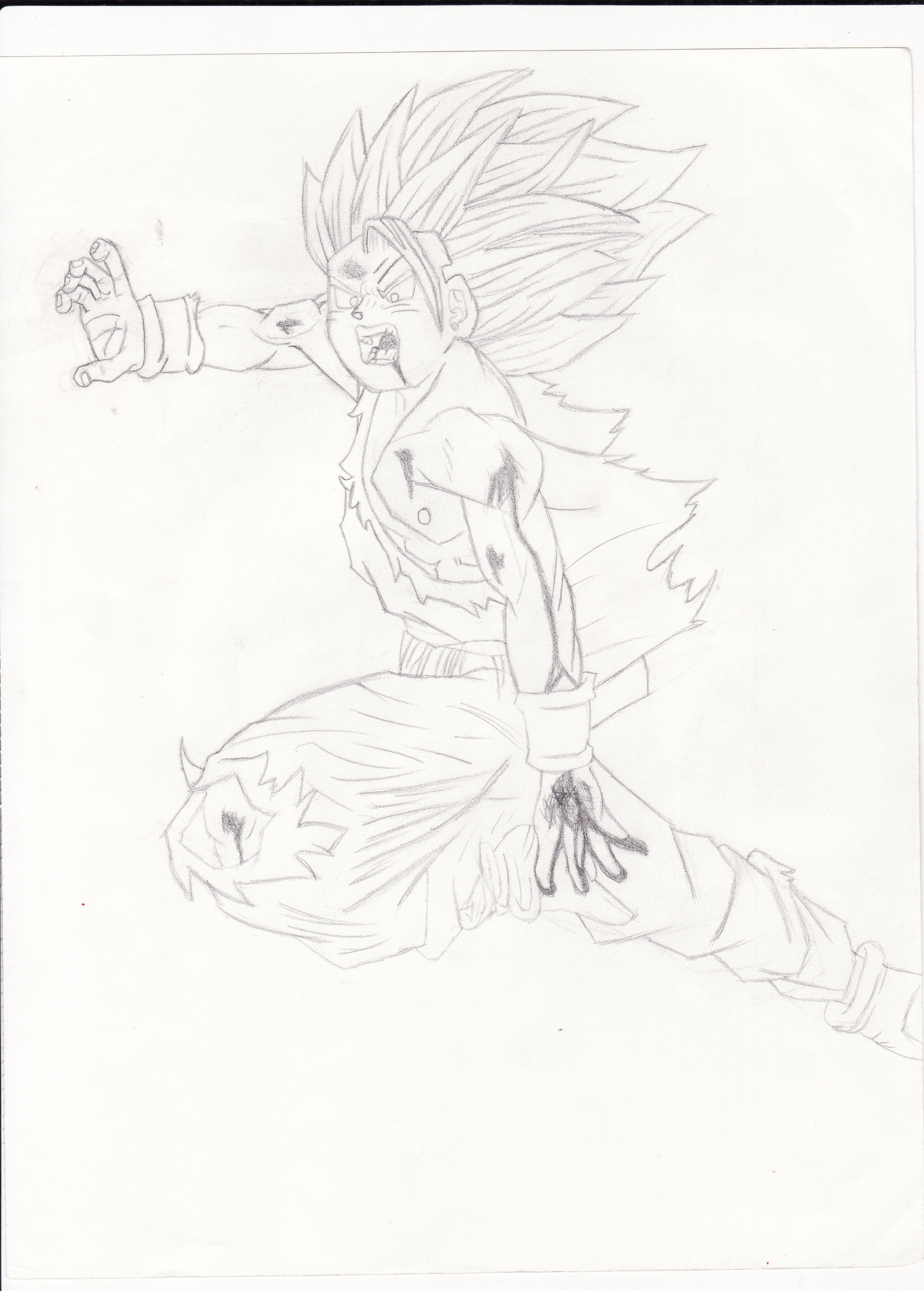 My drawing of Gohan doing the kamehameha