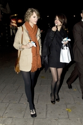 October 21-Out in London with Taylor Swift - selena-gomez photo