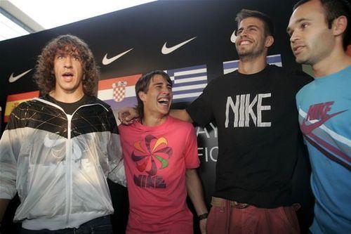 Puyol, Bojan, Pique & Iniesta