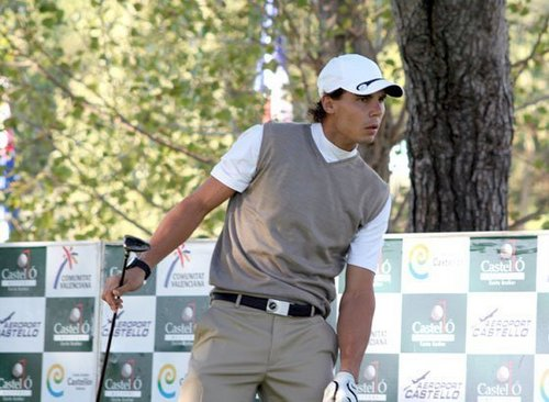 Rafa at Castelló Masters 2010 Golf tournament