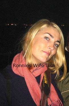 Ronnie's wife, Lisa