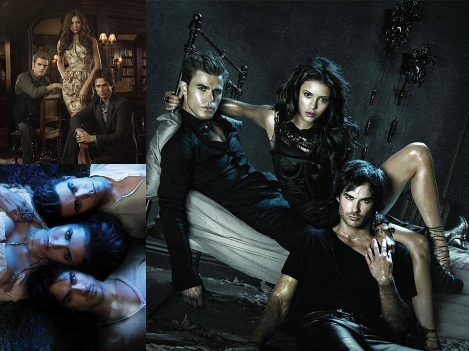vampire diaries wallpaper damon and. Stefan/Elena/Damon Wallpaper