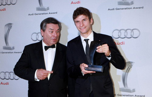 Thomas Müller at Audi Generation Awards