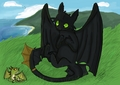 Toothless and Terrible Terror - how-to-train-your-dragon fan art