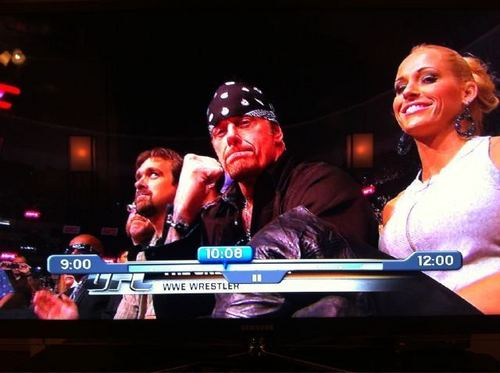 Undertaker and Michelle McCool at UFC