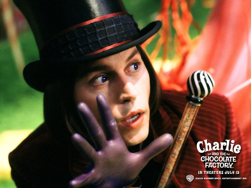 Johnny Depp Willy Wonka And The Chocolate Factory