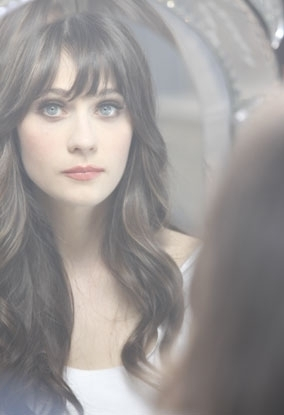 Deschanel wallpaper with a portrait entitled Zooey - Rimmel London behind the scenes