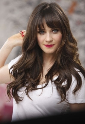Deschanel wallpaper containing a portrait entitled Zooey - Rimmel London behind the scenes