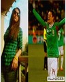chicharito y su novia chaska borek  - chicharito photo