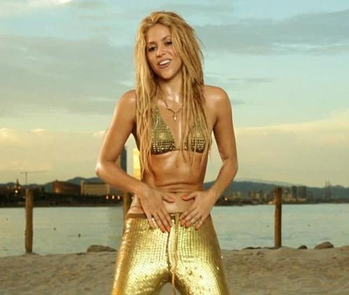 shakira gold body