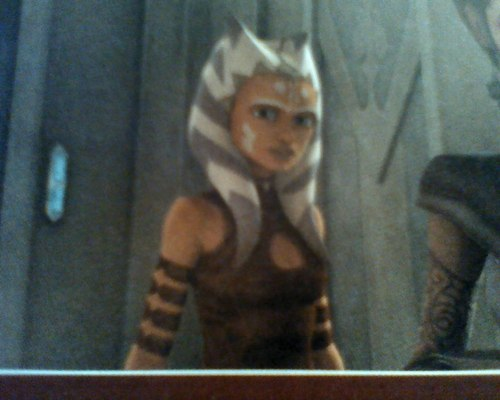 étoile, étoile, star Wars: Clone Wars fond d'écran called Ahsoka's new look