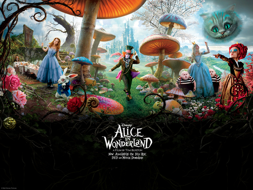 Alice in Wonderland (2010) wallpaper possibly containing anime entitled Alice in Wonderland
