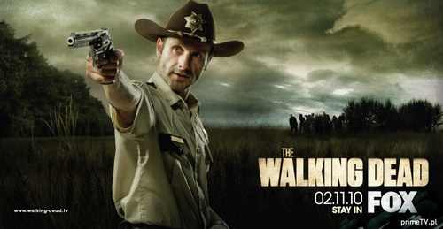 Walking Dead fond d'écran with a fedora and a boater called Andrew lincoln as Rick Grimes