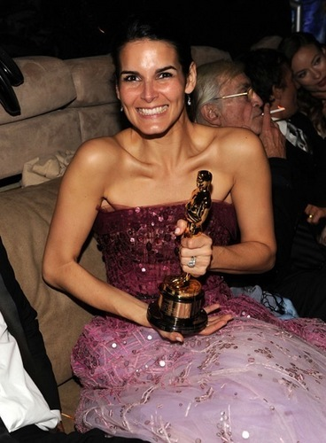 Angie @ 2010 Vanity Fair Oscar Party – Inside