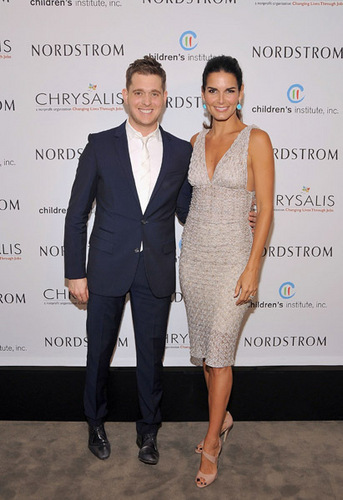Angie @ Michael Buble Performs At Nordstrom's Santa Monica Place Opening Gala