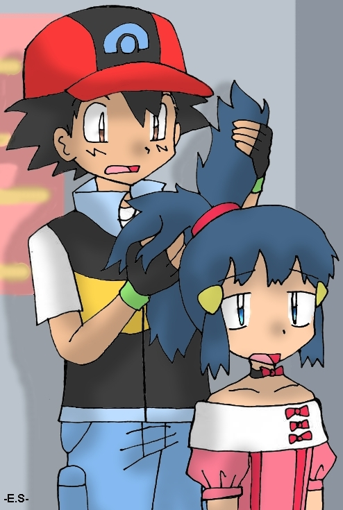 Ash Dawn Pokemon http://www.fanpop.com/clubs/pokemon-shipping/images/16506426/title/ash-dawn