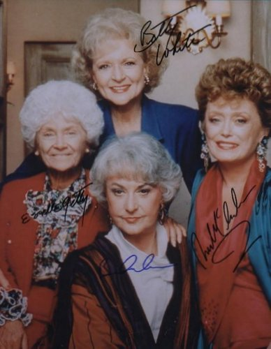 Autograph Picture of the Golden Girls