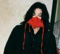 BEAUTY-red silk - michael-jackson photo