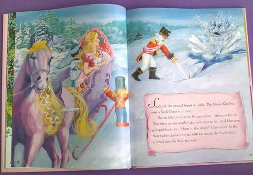 Sinema za Barbie karatasi la kupamba ukuta possibly with anime entitled Barbie - Story Treasury - Nutcracker and Rapunzel