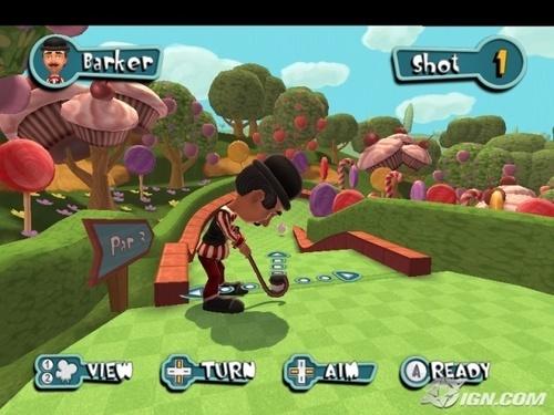 Barker Playing Golf