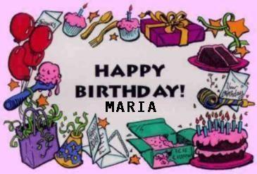 Birthday Treats For Maria <3
