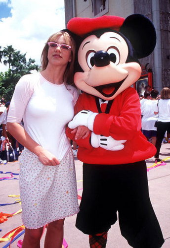 Britney and Joey McIntyre in Disney World,1999