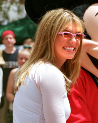 Britney and Joey McIntyre in Дисней World,1999