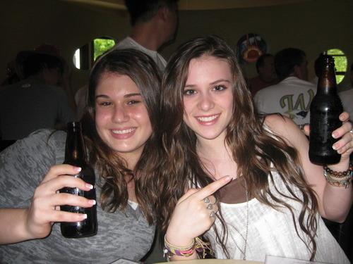 Caitlin Drinking Beer...Root Beer That Is