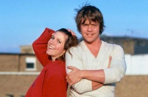 Carrie and Mark behind the scenes