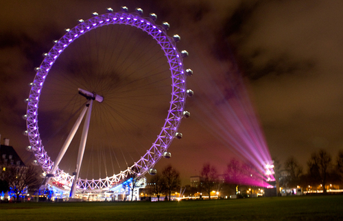 natal Lights In Londres UK (the Londres eye)