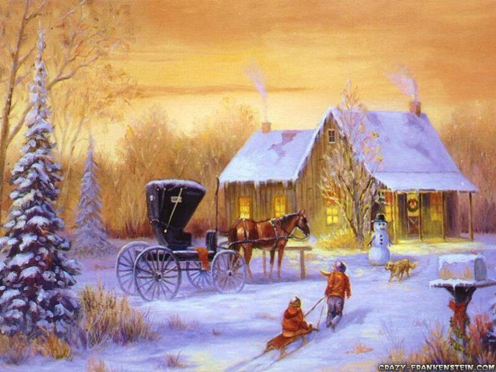 old fashion christmas wallpaper free - photo #9