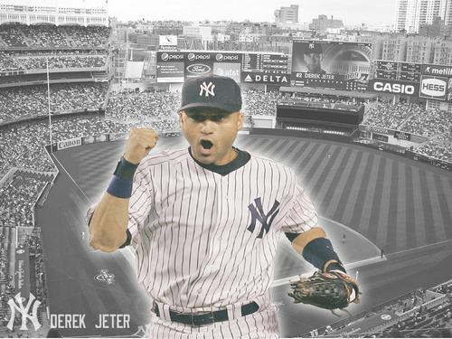 Derek Jeter 바탕화면 with a ballplayer, a first baseman, and a right fielder entitled Derek Jeter