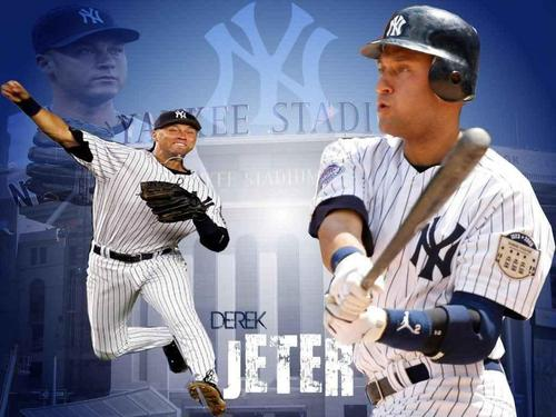 New York Yankees Wallpaper Containing A Ballplayer First Baseman And Right Fielder Derek Jeter
